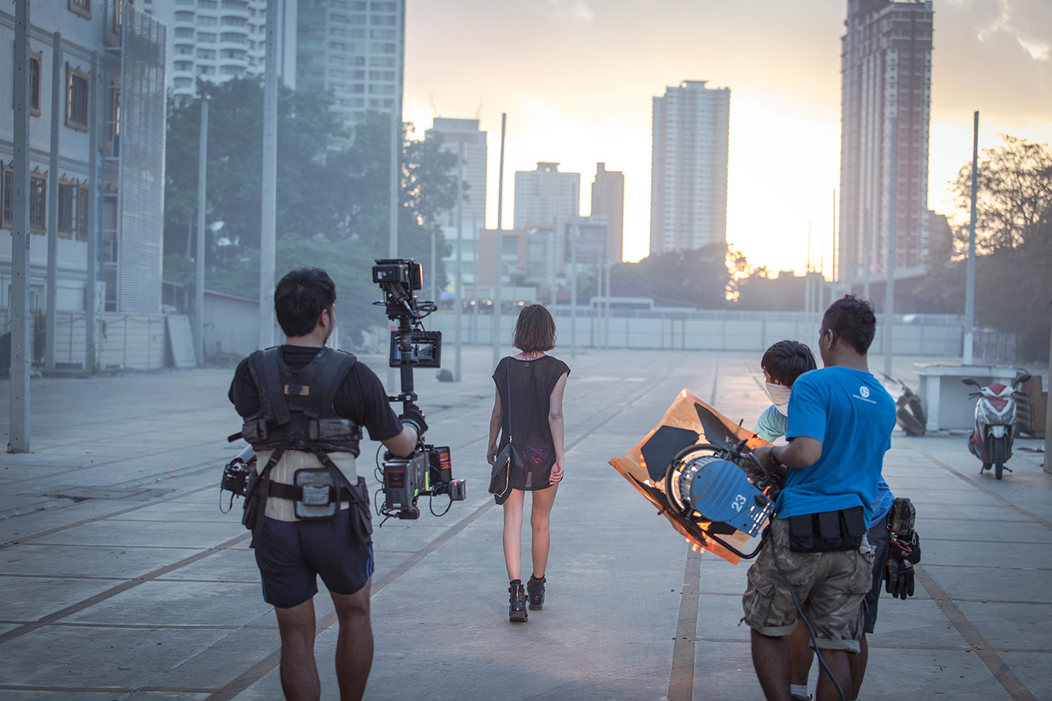 Behind the scenes Major Lazer MV in Bangkok Thailand, production services by Eastness