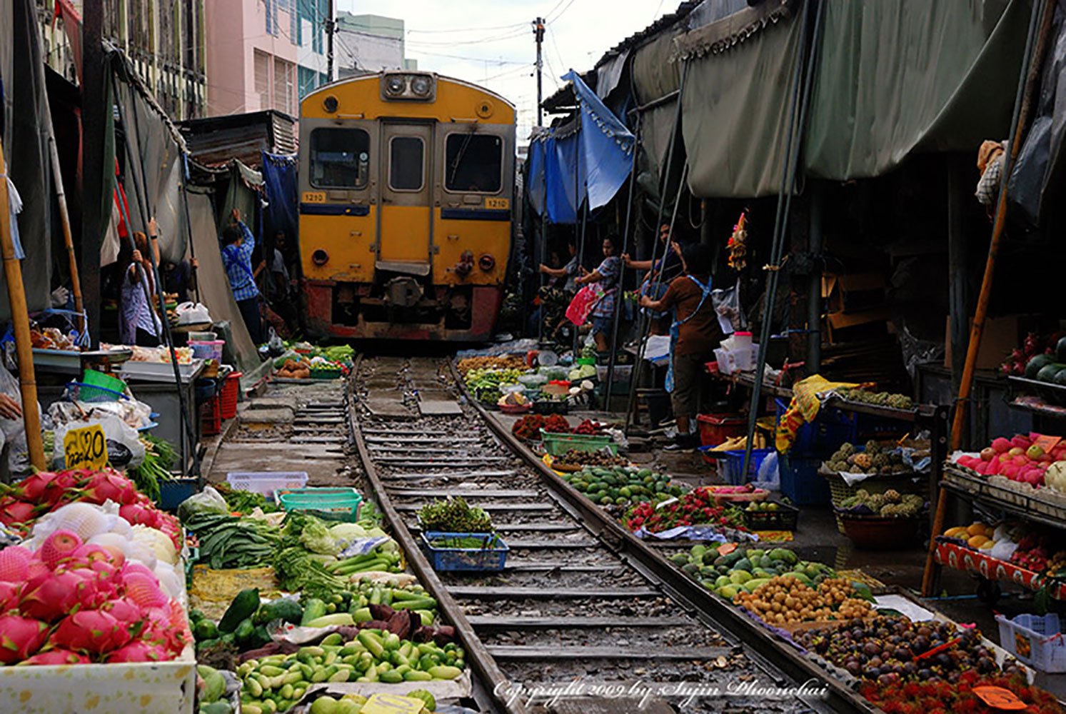 Asian market filming location in Bangkok Thailand