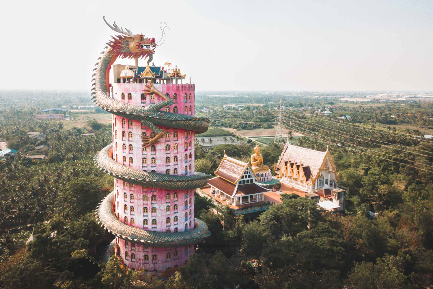 Dragon temple filming location in Thailand