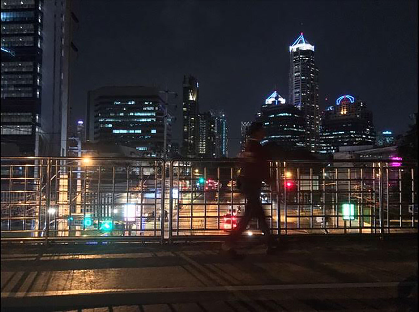 Bangkok skyline and night filming location Thailand