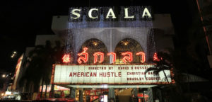 Movie theatre marquee filming location in Bangkok Thailand