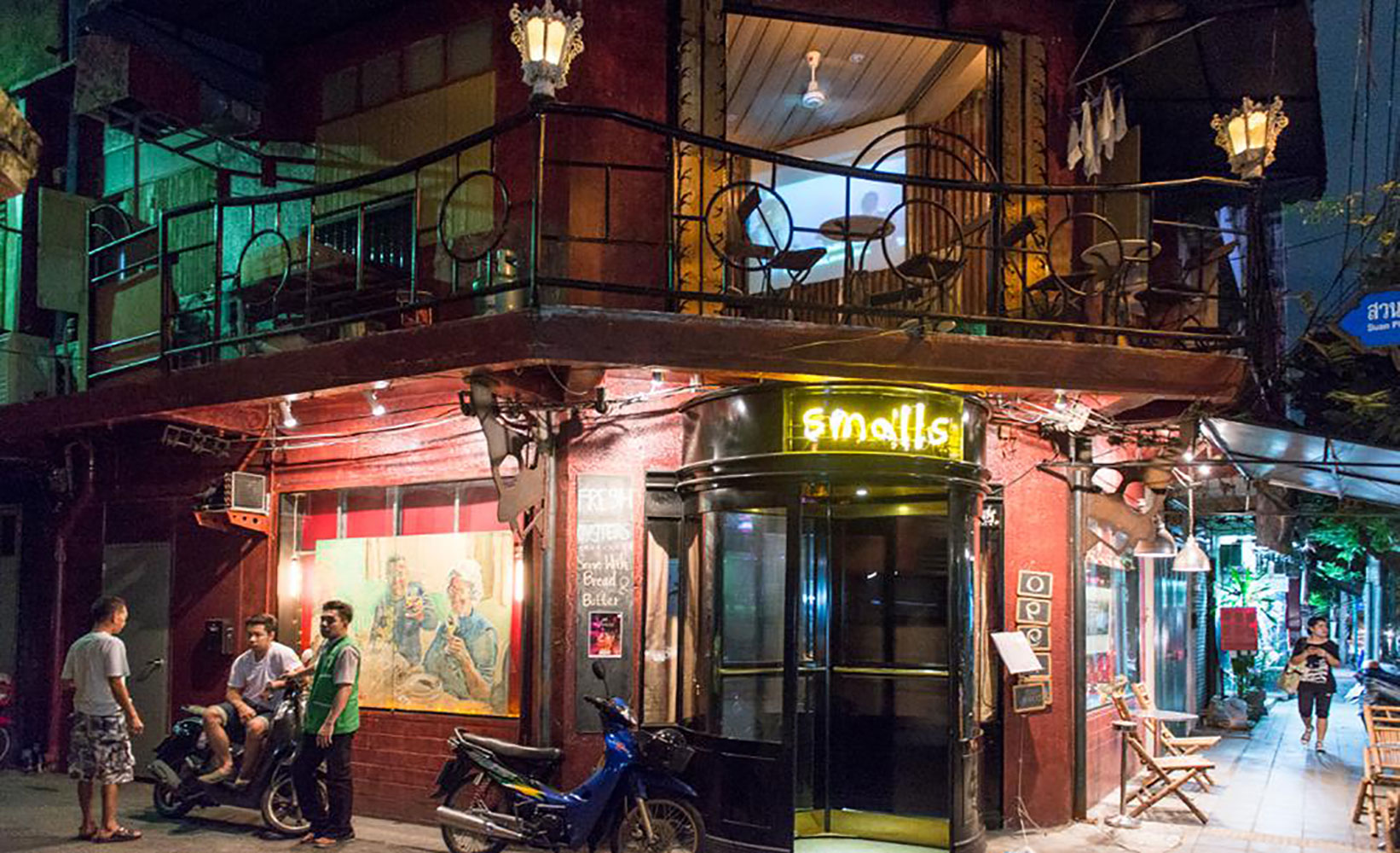 Retro bar filming location in Bangkok Thailand