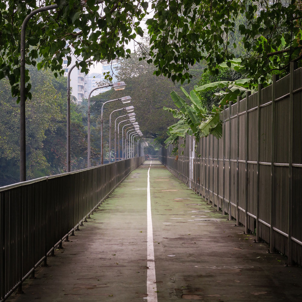City jogging track filming location in Bangkok Thailand