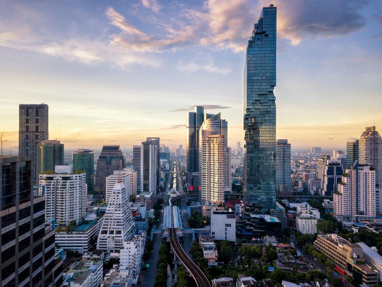 Bangkok skyline i