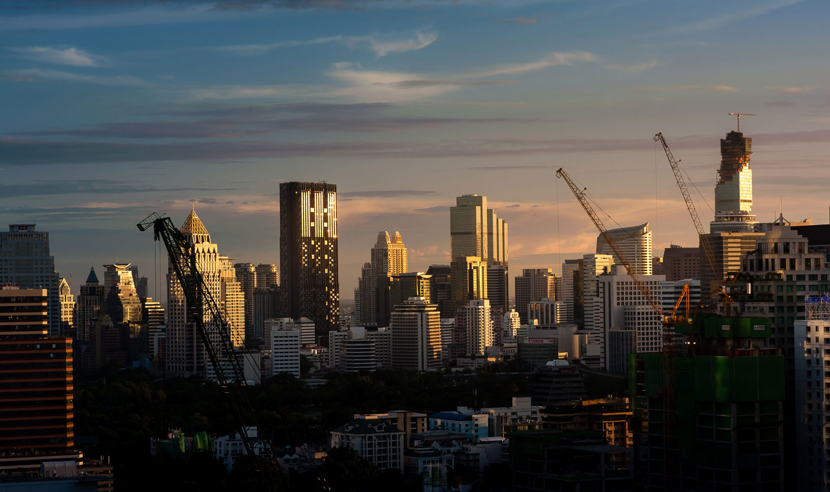 Bangkok skyline at night shooting location