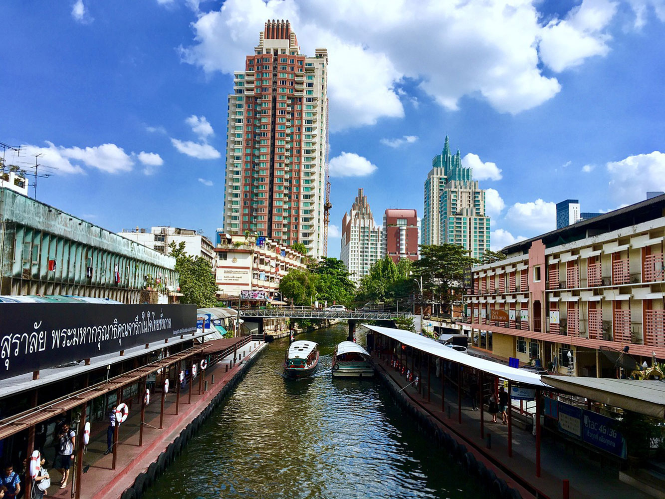 Urban canal filming location in Bangkok Thailand