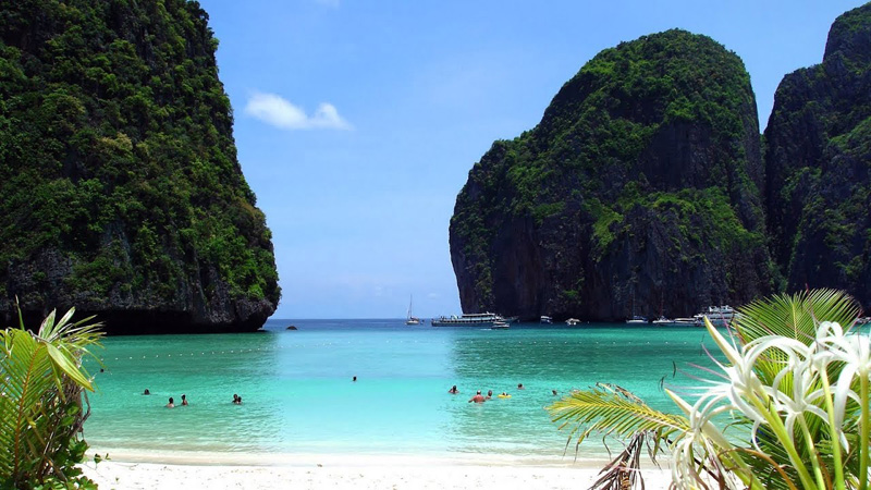 Beach filming location in Thailand