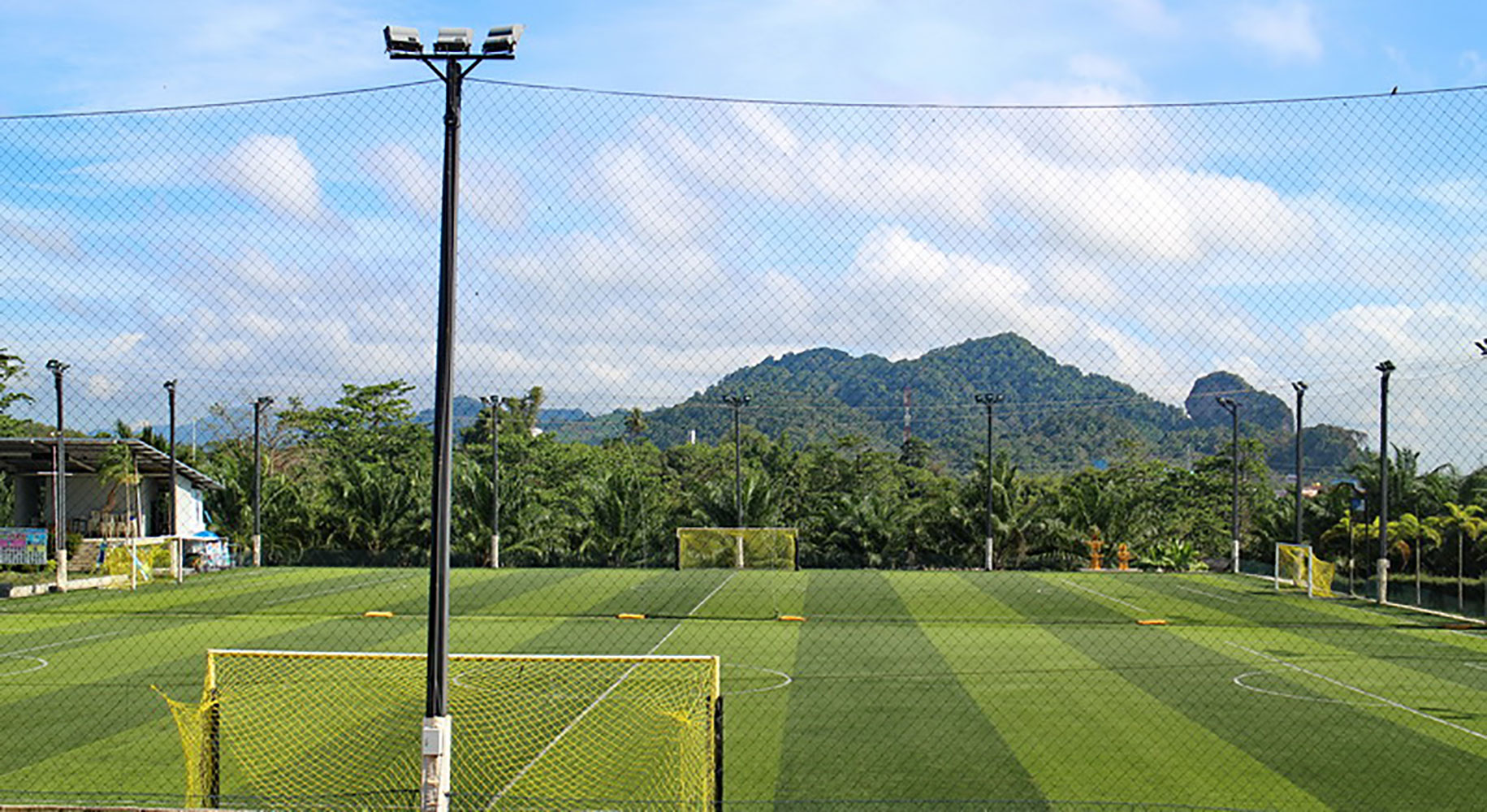 Soccer field filming location in Bangkok Thailand
