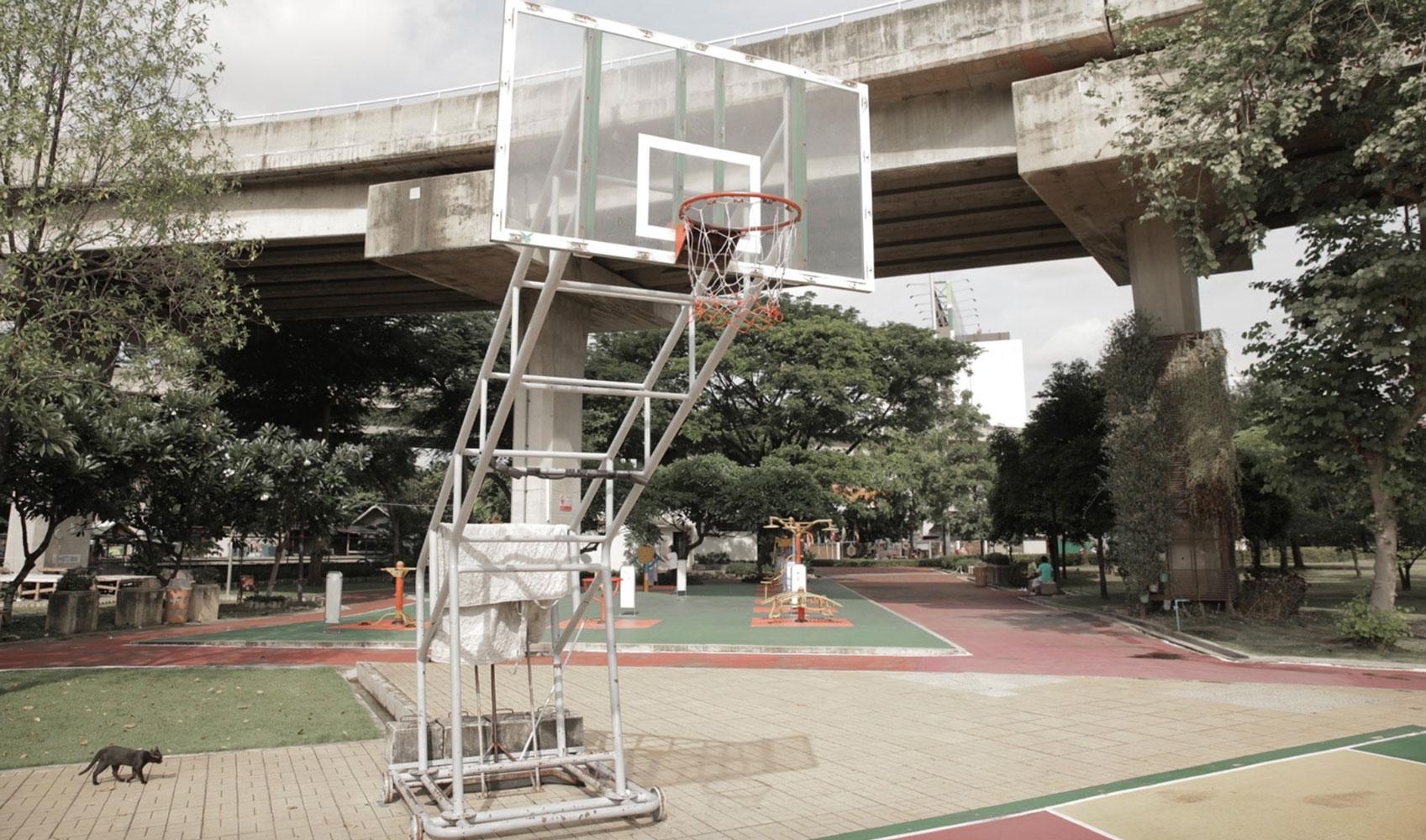 Basketball court in Bangkok Thailand