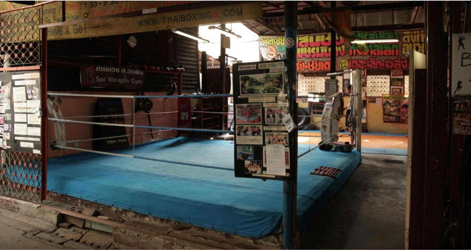 Muay Thai boxing gym filming location in Bangkok Thailand
