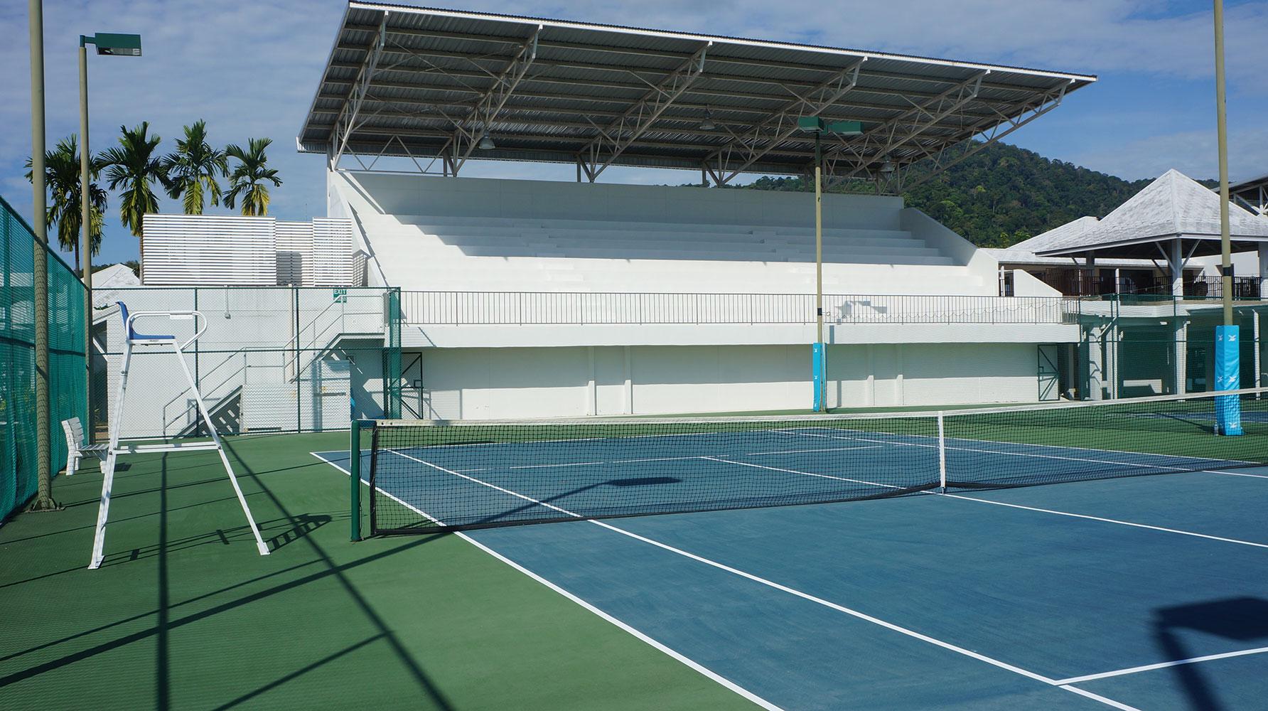 Tennis court filming location in Thailand