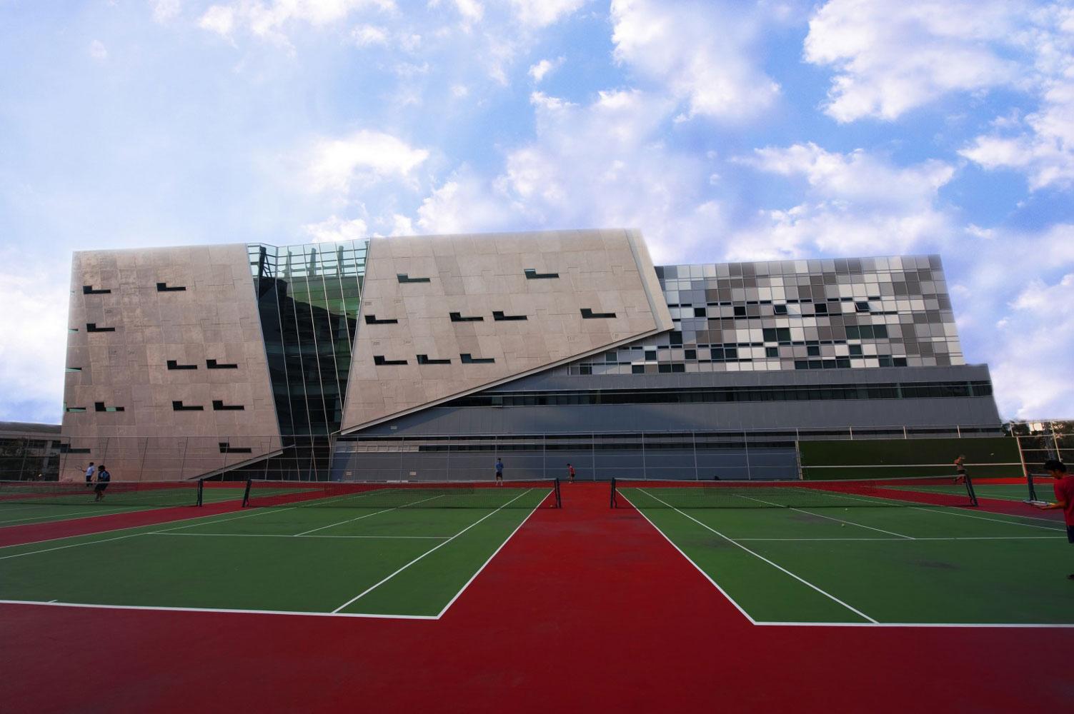 Badminton court filming location in Bangkok Thailand