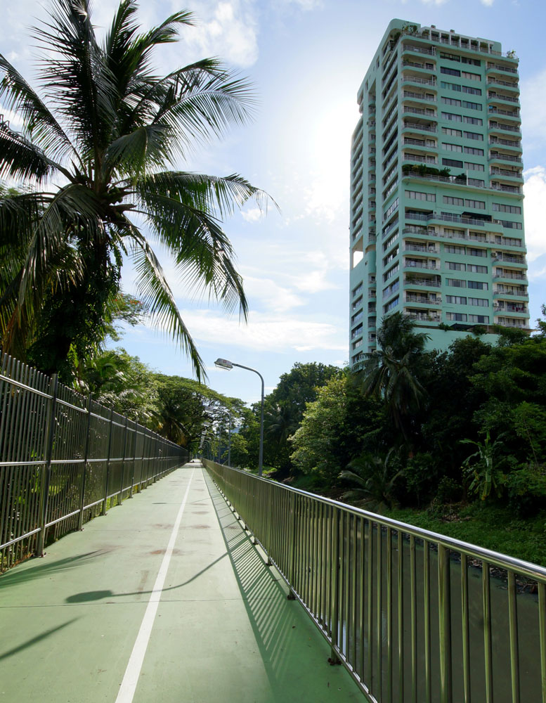 Jogging track filming location in Bangkok Thailand