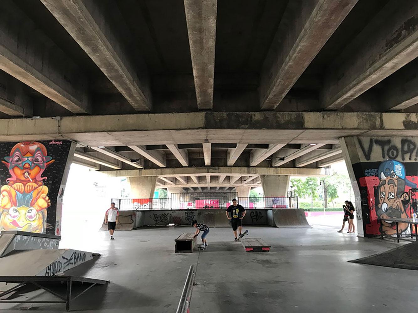 Skatepark shooting location in Bangkok Thailand