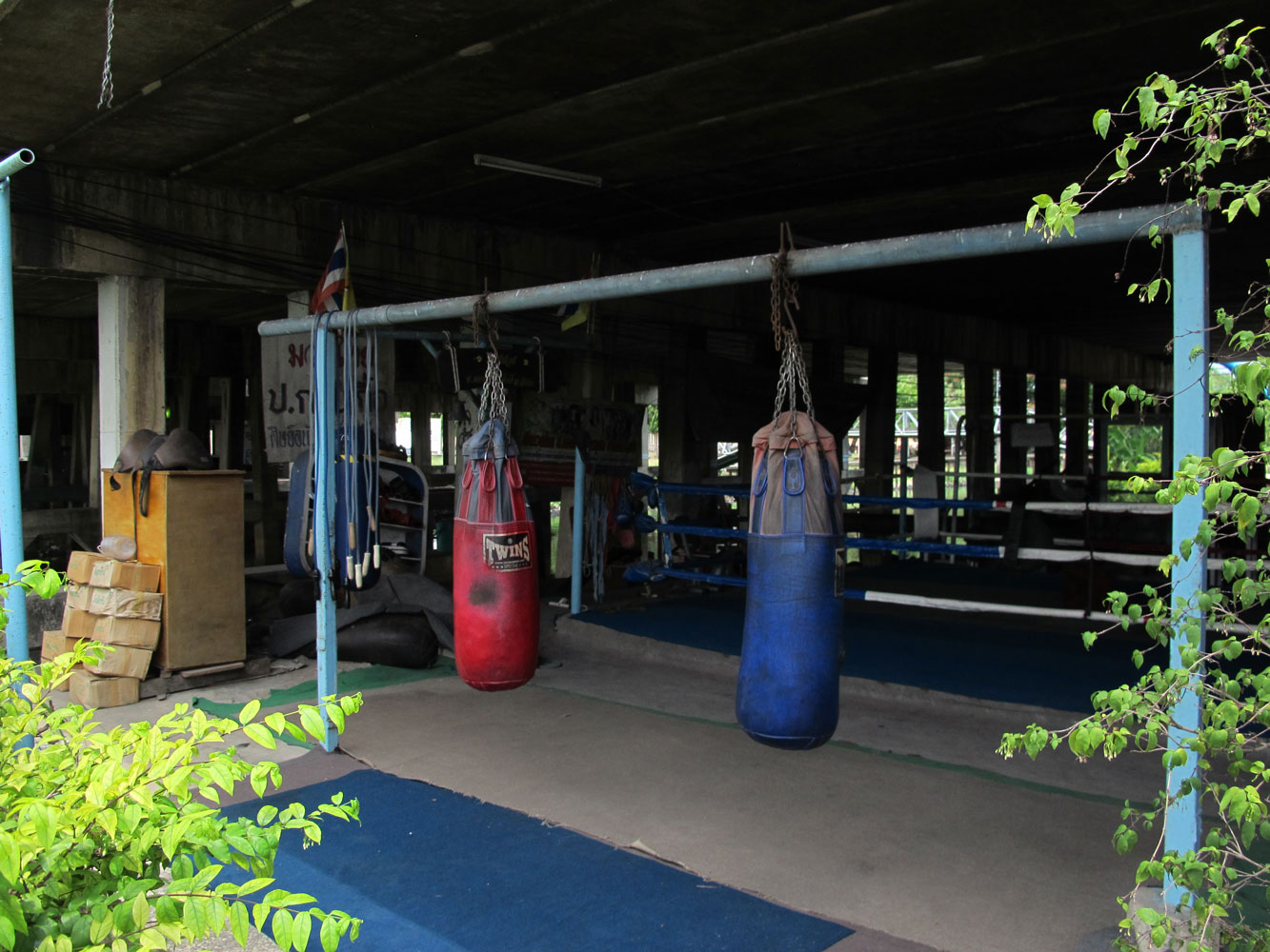 Muay Thai boxing gym filming location in Bangkok Thailand